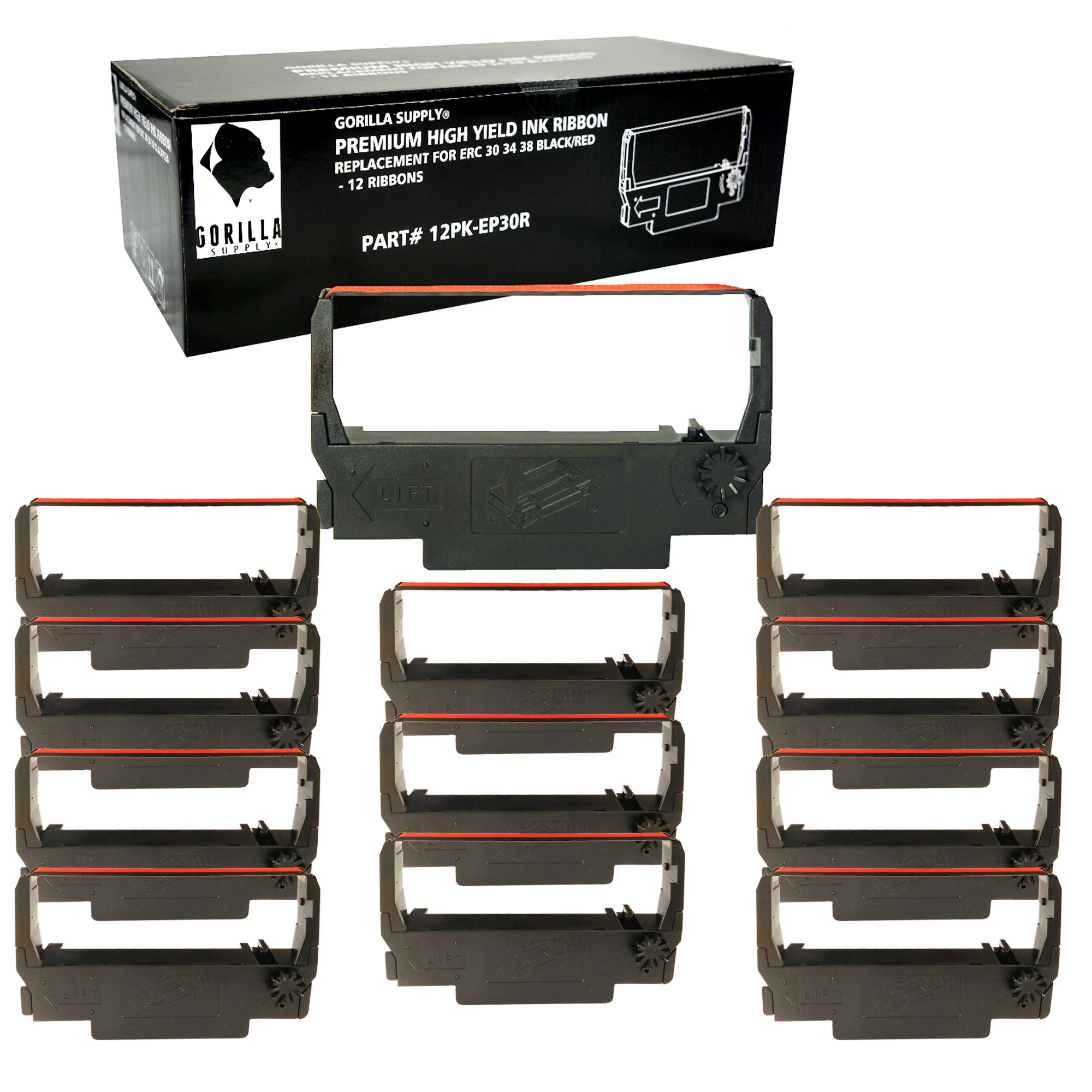 Epson Black Ribbons for TM-U200B TM-U200D TM-U300D ERC 30//34//38