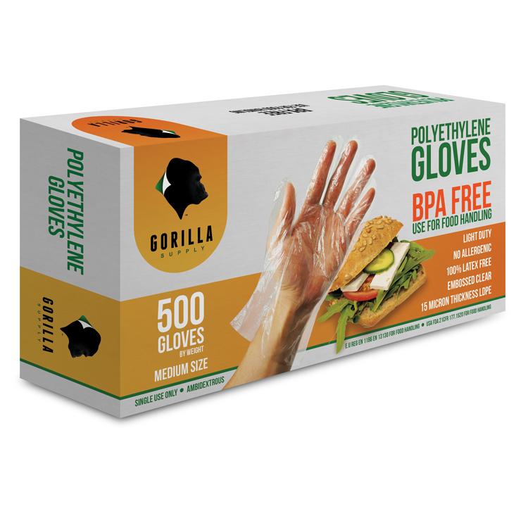 Orange Gloveworks Disposable GWON46100 Case of 1000 8 mil Nitrile Gloves Powder Free Large AMMEX