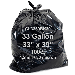 Bagtron Black 100 Can Liners 33