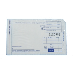 2 Part Short Credit Card Imprinter Sales Slips, Pack of 100