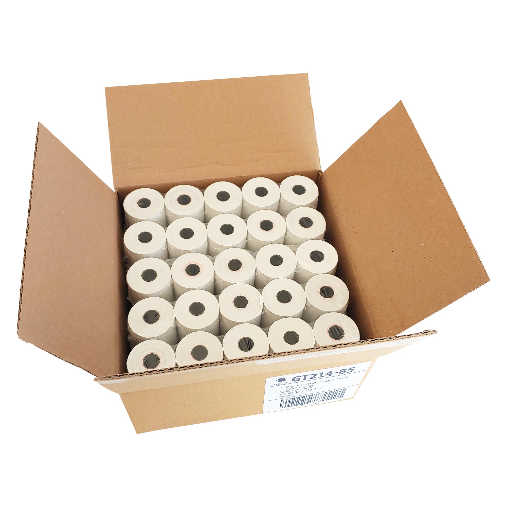 50 Per Case Verifone//Hypercom//Nurit 2 1//4 X 85 Thermal Paper Rolls