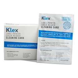 Klex Microfiber Check Scanner Cleaning Card 4 x 6 IPA-Free 25 cards