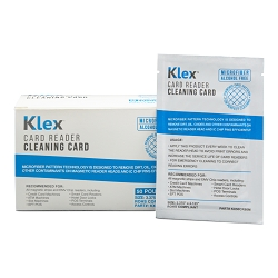 Klex Microfiber Credit Card Cleaning Card Magnetic Reader Alcohol Free 50 cards