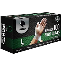 100 Vinyl Gloves Large L, 4mil Powder Free Extra Strong