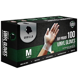 100 Vinyl Gloves Medium M, 4mil Powder Free Extra Strong