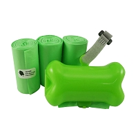 Gorilla Supply 60 Green Pet Poop Waste Bags with Green Dispenser, EPI Technology, 3 Refill Rolls