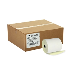 (50) 2ply Carbonless 3 x 90' Paper Rolls White/Canary