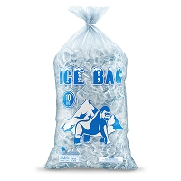 Bagtron 100 Ice Bags 10LBS 12 x 21 BPA Free, LLDPE, Clear with Twist Tie