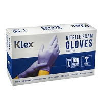 Klex Nitrile Exam Gloves - Medical Grade, Powder Free, Latex Rubber Free, Disposable, Food Safe, Lavender L Large