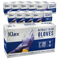 1000 Klex Nitrile Exam Gloves - Medical Grade, Powder Free, Latex Rubber Free, Disposable, Food Safe, Lavender L Large