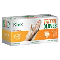 200 Heavyweight Cast Poly Disposable Kitchen Gloves Large, BPA Free, Food Grade