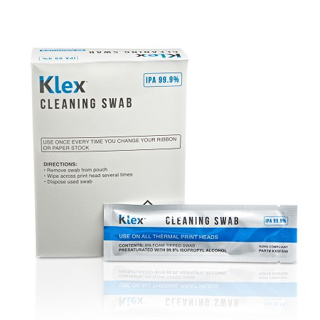 Klex 5 Inch Presaturated 99.9% IPA Cleaning Swab - 50 Swabs