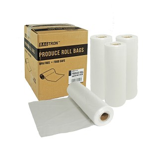Bagtron Produce Bag Rolls, Fruits and Veggies, 11x14, 2372 bag BPA Free, Clear