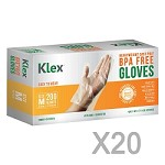 4000 Heavyweight Cast Poly Disposable Kitchen Gloves Medium,  BPA Free, Food Grade