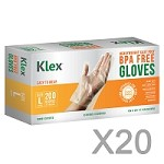 4000 Heavyweight Cast Poly Disposable Kitchen Gloves Large,  BPA Free, Food Grade