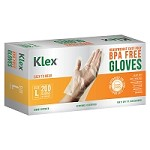 1000 Heavyweight Cast Poly Disposable Kitchen Gloves Large,  BPA Free, Food Grade