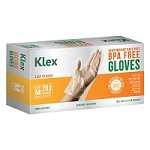 200 Heavyweight Cast Poly Disposable Kitchen Gloves Medium, BPA Free